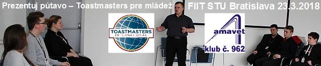 Zaži spolu s AMAVET klubom č. 962 ukážkové stretnutie rečníckeho klubu Toastmasters na konferencii Junior Internet!