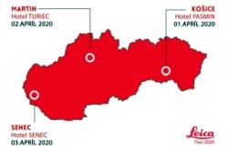 Spoločnosť GEOTECH Bratislava organizuje od 1. do 3. apríla 2020 v troch slovenských mestách bezplatnú prezentáciu výrobného programu značky Leica Geosystems.