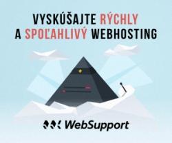 Vyskúšajte aj vy rýchly a spoľahlivý webhosting od WebSupportu