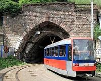 Dńa 1. mája 2013 bude po komplexnej sanácii stavby obnovená premávka električiek č. 5 a č. 9. cez tunel pod Bratislavským hradom, foto: Ing. Peter Páteček, zeleznicne.info