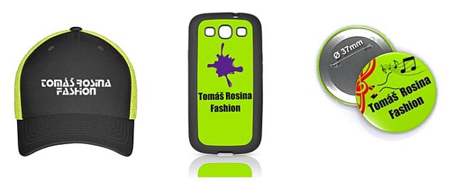 Reklamné predmety módnej značky Tomáš Rosina Fashion, zdroj: Rosina Music