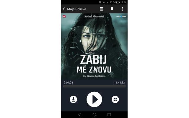 Audiotéka – Android prehrávač, zdroj: audioteka.sk