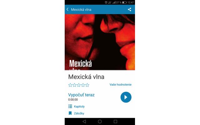Audiotéka – záložky na Androide, zdroj: audioteka.sk