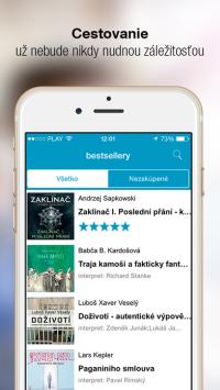 Bestsellery pre iOS, zdroj: audioteka.sk