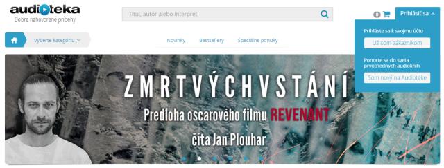 Audiotéka – Registracia, zdroj: audioteka.sk