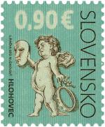 Poštová známka s motívom empírového divadla v Hlohovci, zdroj: posta.sk