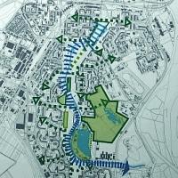 Ukážka z víťazného návrhu č. 6 na riešenie územia pri Chorvátskom ramene, zdroj: Magistrát hlavného mesta SR Bratislava