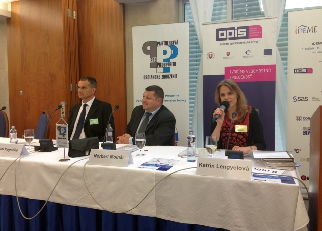 Moderátorkou konferencie iDEME OPIS 2014 bola Katrin Lengyelová, foto: PPP