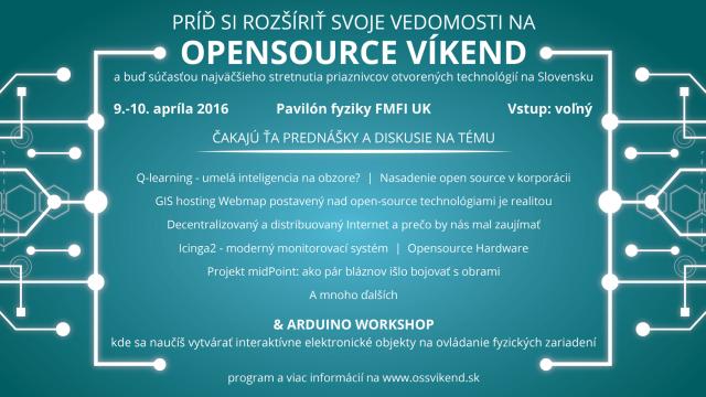 Plagát OSS Víkend Bratislava 2016 na stiahnutie, zdroj obrázka: Veronika Kolpaščikovová