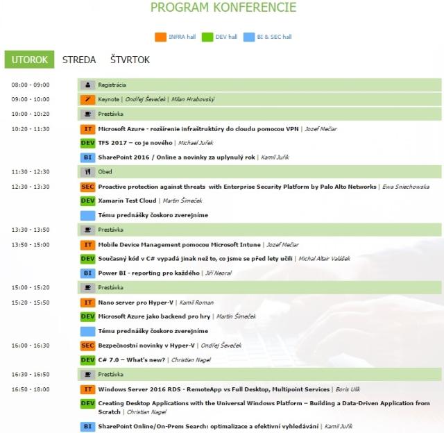Program najväčšej IT odbornej konferencie na Slovensku, zdroj obrázka: showit.sk