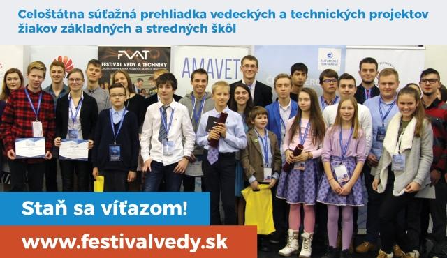 Staň sa viťazov Festivalu vedy a techniky! zdroj: AMAVET