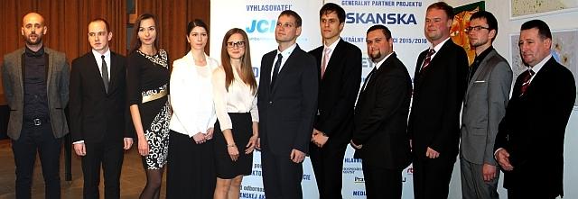 11 finalisti Študentskej osobnosti Slovenska akad.r. 2014/2015, foto: Miloslav Ofúkaný
