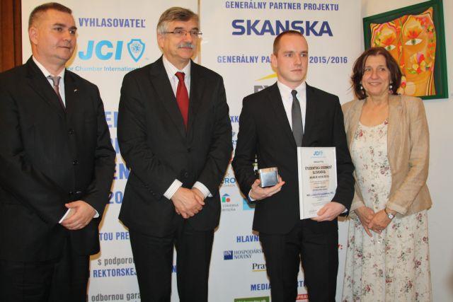 Lukáš Krivosudký – víťaz kategórie Prírodné vedy, chémia, foto: Miloslav Ofúkaný