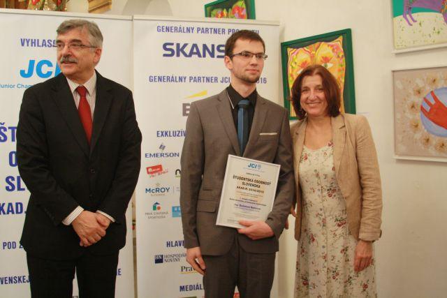 Dušan Nemec – víťaz kategórie Elektrotechnika, priemyselné technológie, foto: Miloslav Ofúkaný