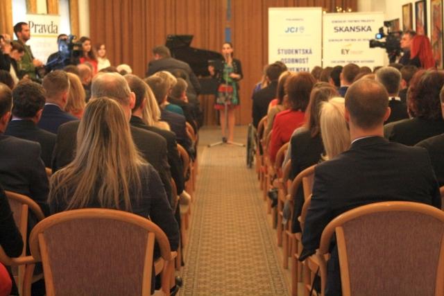 Odovzdávanie ocenení Študentská osobnosť Slovenska akad. r. 2015/2016 sa konalo v Pálfyho paláci v Bratislave, foto: Miloslav Ofúkaný