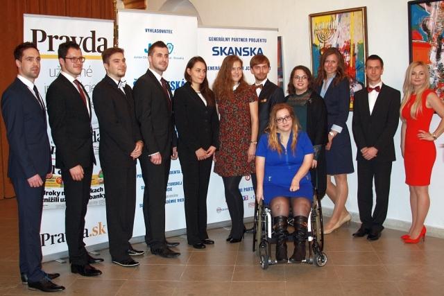 12 finalisti Študentskej osobnosti Slovenska akad.r. 2015/2016, foto: Miloslav Ofúkaný