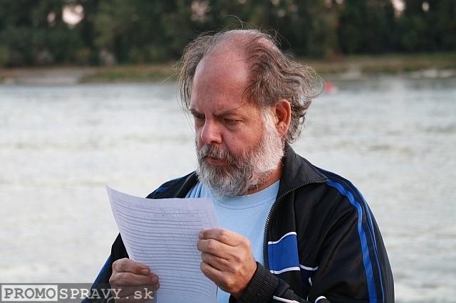 Marián Smolík na treťom stretnutí Toastmasters pod holým nebom dňa 6.9.2012, foto: Miloslav Ofúkaný