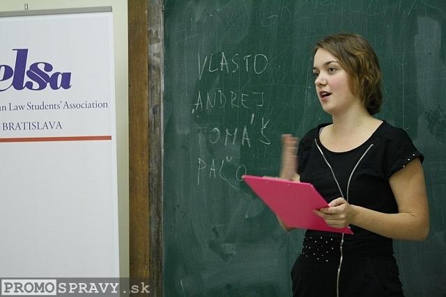 Gabika Čepičanová – členka klubu Slovenskí Toastmasters, foto: Miloslav Ofúkaný