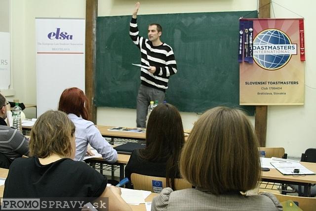 František Kozáček – technický vedúci klubu Slovenskí Toastmasters, foto: Miloslav Ofúkaný