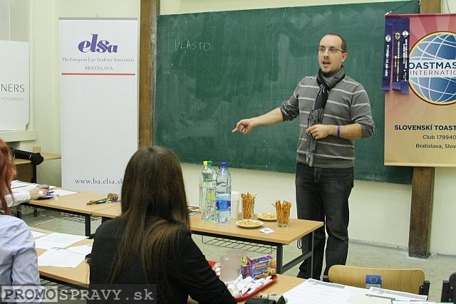 Andrej Mažáry – člen klubu Slovenskí Toastmasters, foto: Miloslav Ofúkaný