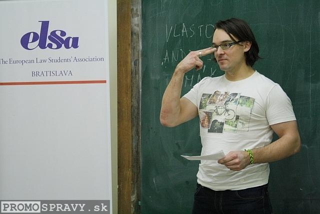 Filip Polonský – člen klubu Slovenskí Toastmasters, foto: Miloslav Ofúkaný