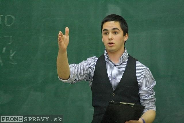 Peter Šúry – viceprezident klubu Slovenskí Toastmasters pre členstvo, foto: Miloslav Ofúkaný