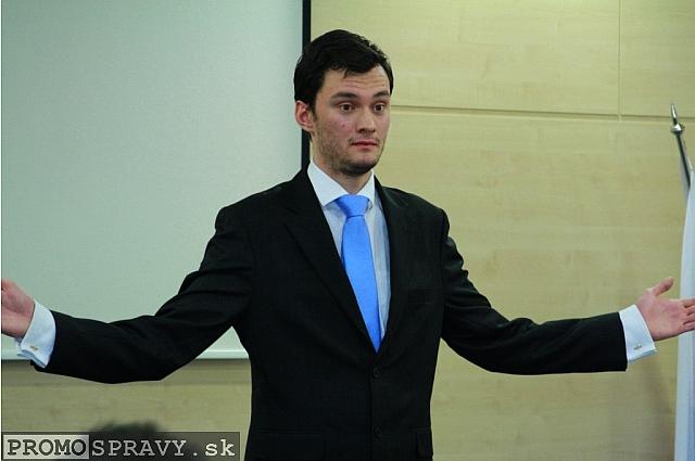 Silvio Michal - moderátor Toastmasters, foto: Miloslav Ofúkaný