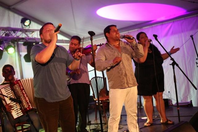 Atmosféra na festivale Cigánsky Bašavel dňa 29. augusta 2012 na hrade Červený Kameň, zdroj: ciganskybasavel.sk
