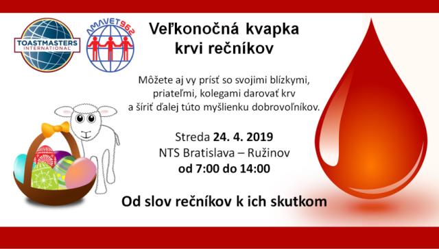 Veľkonočná kvapka krvi rečníkov, zdroj obrázka: Miloslav Ofúkaný
