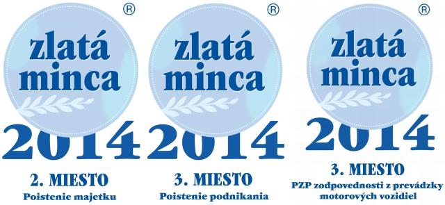 Tri ocenenia v súťaži Zlatá minca 2014 pre UNIQA poisťovňu, a.s.